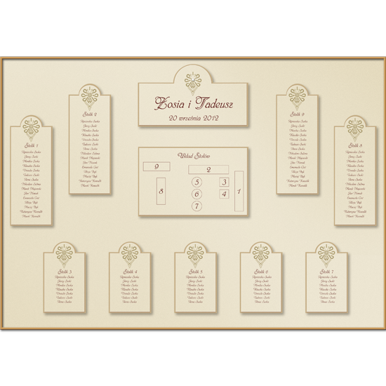 Gold Individual Table Plan