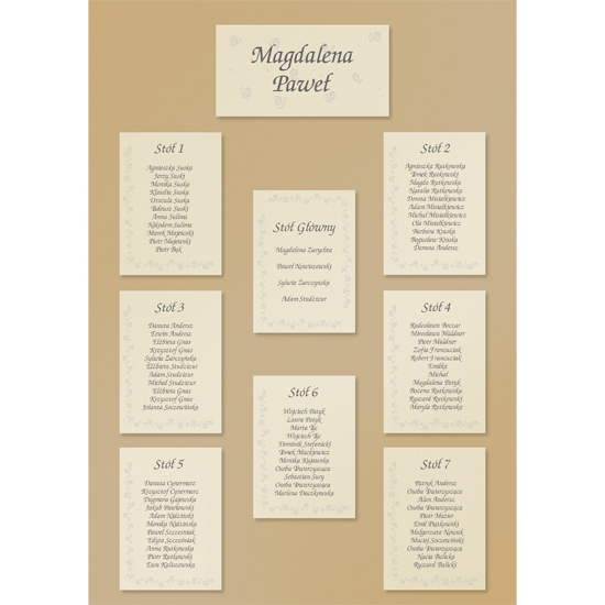 Metallic Gold Standard Table Plan