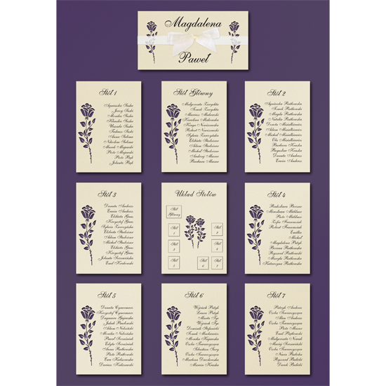 Standard Dark Purple Table Plan