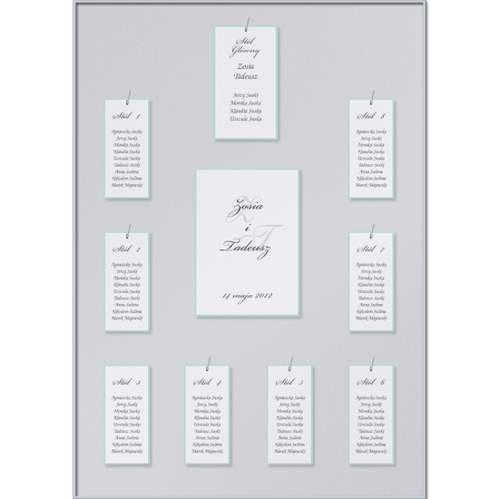 Silver Individual Table Plan