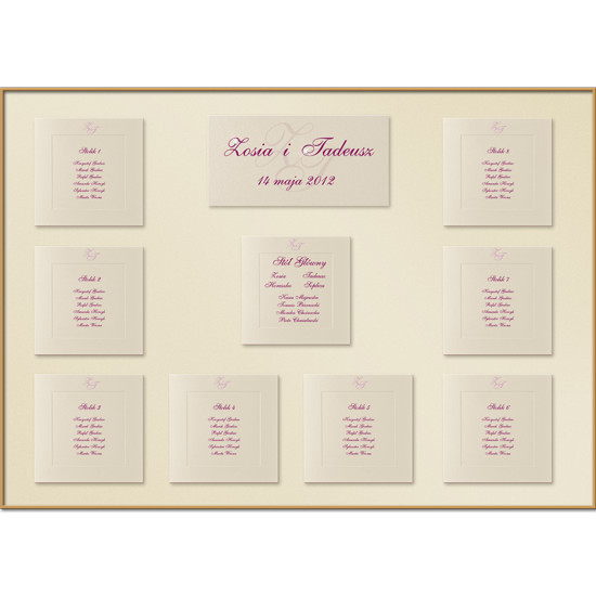 Shimmering Individual Table Plan