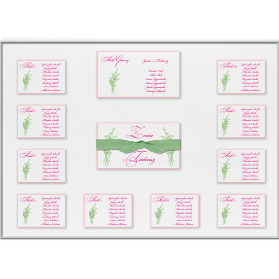 Floral Individual Table Plan