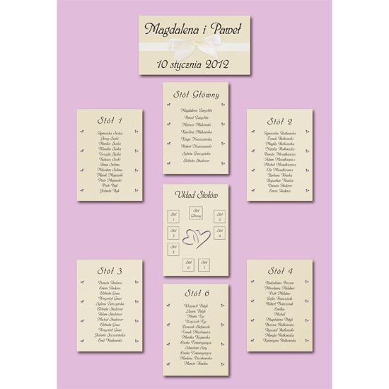 Standard Pink Table Plan