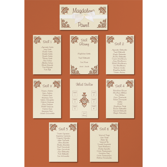 Standard Copper Table Plan