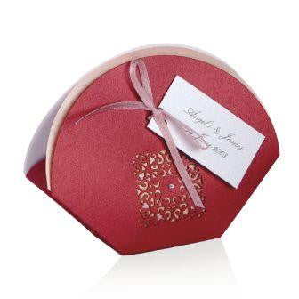Red Intricate Laser Cut Wedding Favour