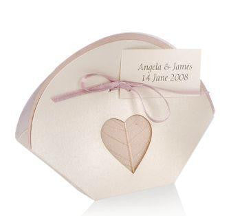 Leaf Heart Wedding Favour