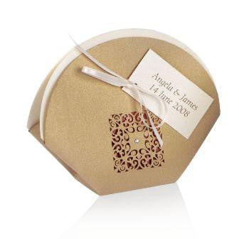 Gold Intricate Laser Cut Wedding Favour