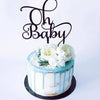Oh Baby.. Baby Shower and Christinging  Wooden Cake Topper