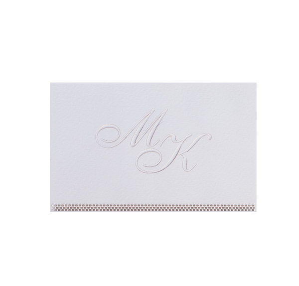 White Lace Save the Date / Reply / Thank You Card