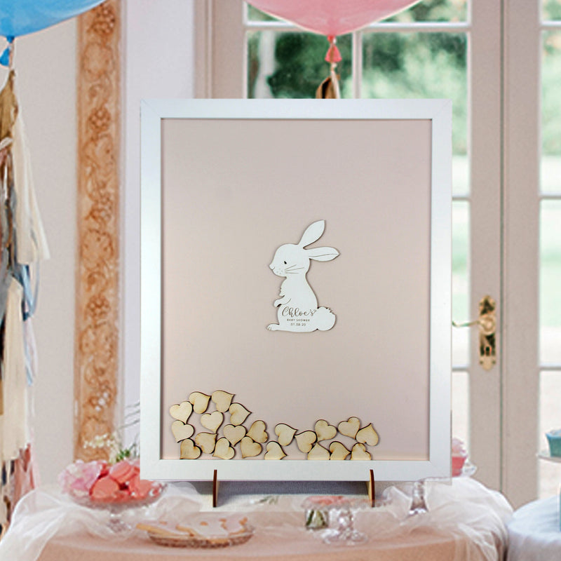 Little Bunny Rabbit  |  Personalised Guest book Drop box