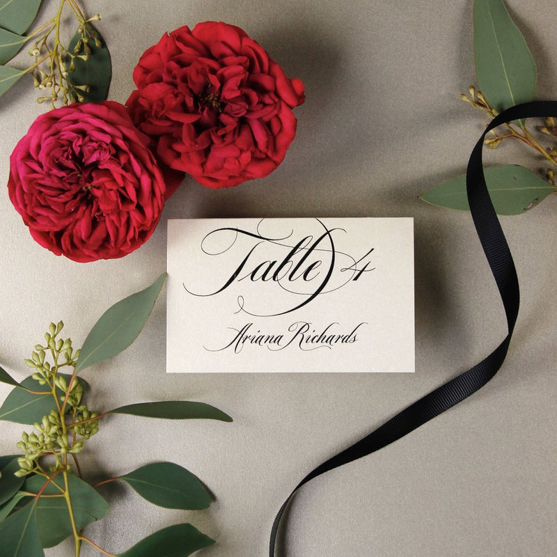 Black Opulence Luxury Place Card