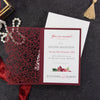 Bordeaux laser cut Evening Invitation