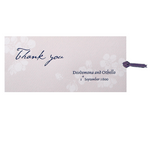 Purple Flower Save the Date / Thank You / Reply Card
