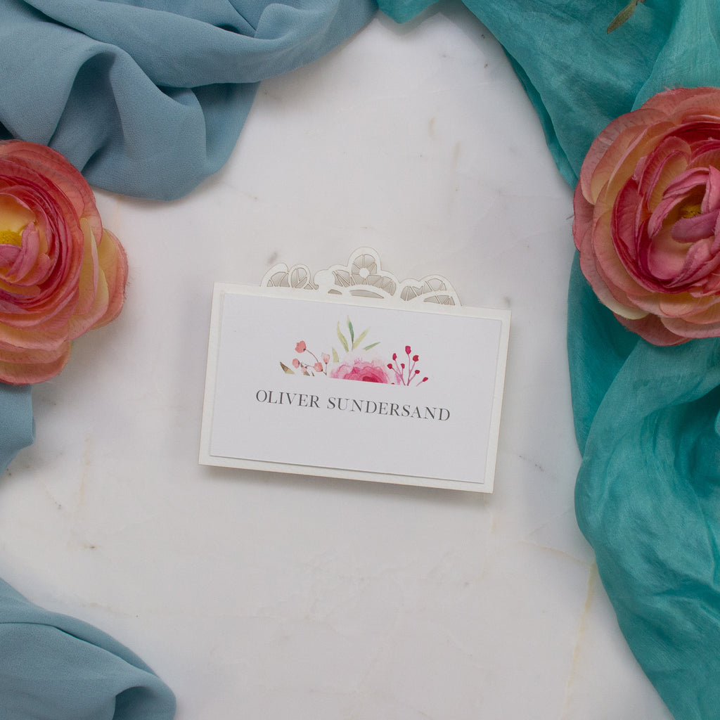 Botanic Ecru laser cut Place Card