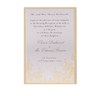 Yellow Letterpress Lace Evening Invitation with Gold Foil