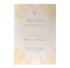 Yellow Lace Order of Service / Menu