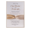 Satin Board Wedding Day Invitation