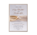 Satin Board Wedding Evening Invitation