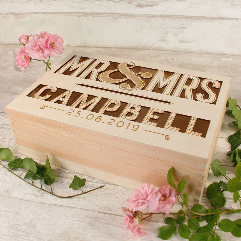 Baby Shower / Christening Wooden Card Money box.