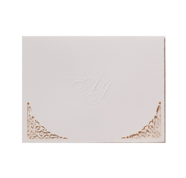 Cream Lace Day Invitation