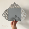 DIY - Light Grey - Luxury Laser Cut Invitation Cover
