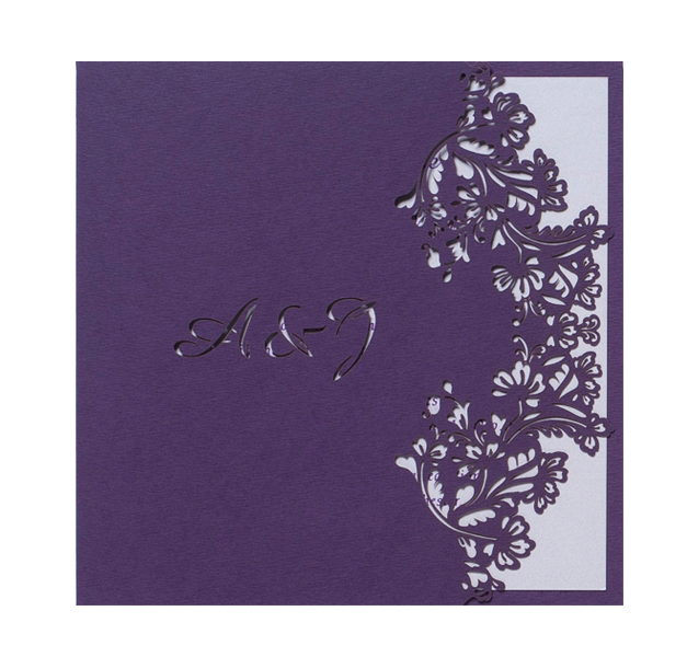 Purple Floral Lace Day Invitation