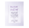 Embossed Letterpress Lilac Frame Wedding Day Invitation