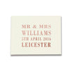 Couples Surname Design Digital Foil Guestbook Signature Design
