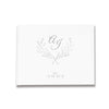 Crest Personal Monogram Design  Silver, Gold and Rose Gold Foil Letterpress Alternative Custom Wedding Guestbook Rustic Guest Book