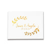 Personalised Foliage Rustic Design Silver, Gold and Rose Gold Foil Letterpress Alternative Custom Wedding Guestbook