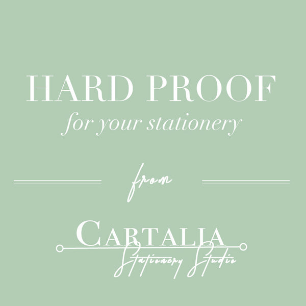 Hard Proof for your stationery from Cartalia