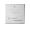 Satin Square Heart Save the Date Card