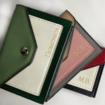 Mystical Green : A Classic Card Holder with Monogram Engraving