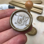 Add-On : Custom Wax Seal in Any font / Motif with Wax Seal Stamp