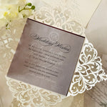 DIY Luxury Kit for Laser Cut Wedding Invitation with Vellum Band and Wax Seal