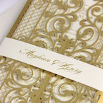 Regal Gold Iron Gate Ornamental Laser Cut Wedding Gatefold