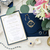 Luxury Navy and Gold Classic Pocket Suite with Gold Foil and Letterpress