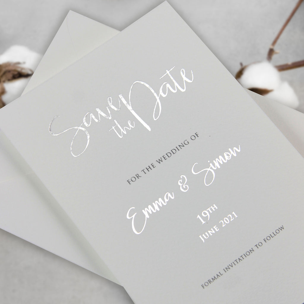 LuxuryFoil Save the Date Card  with Envelope