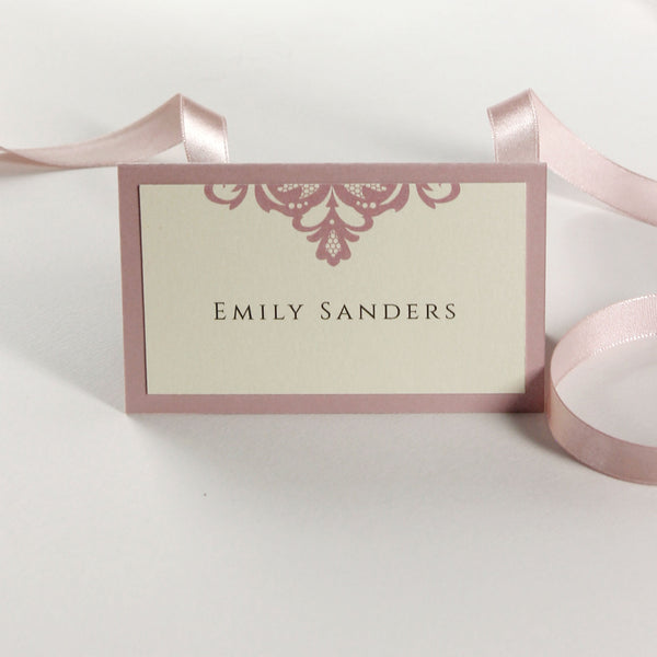 Blush and Cream Wedding Place Card