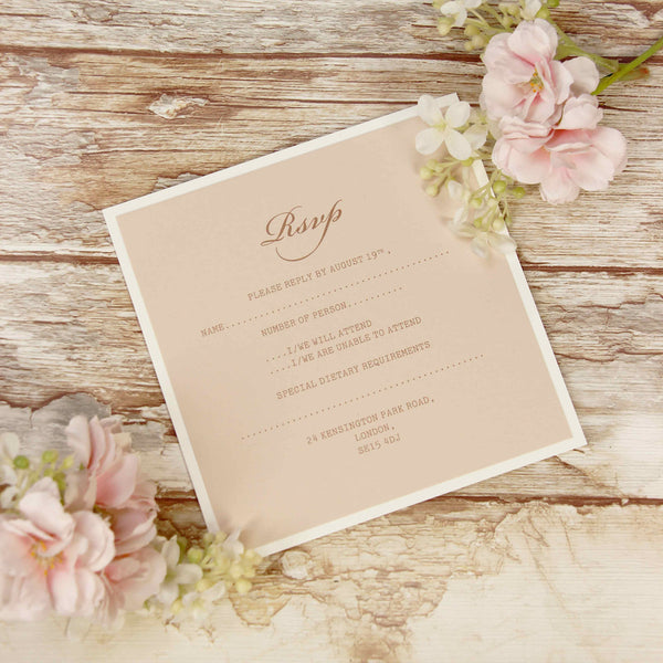 Delicate White Lace RSVP / Thank You / Save the Date card