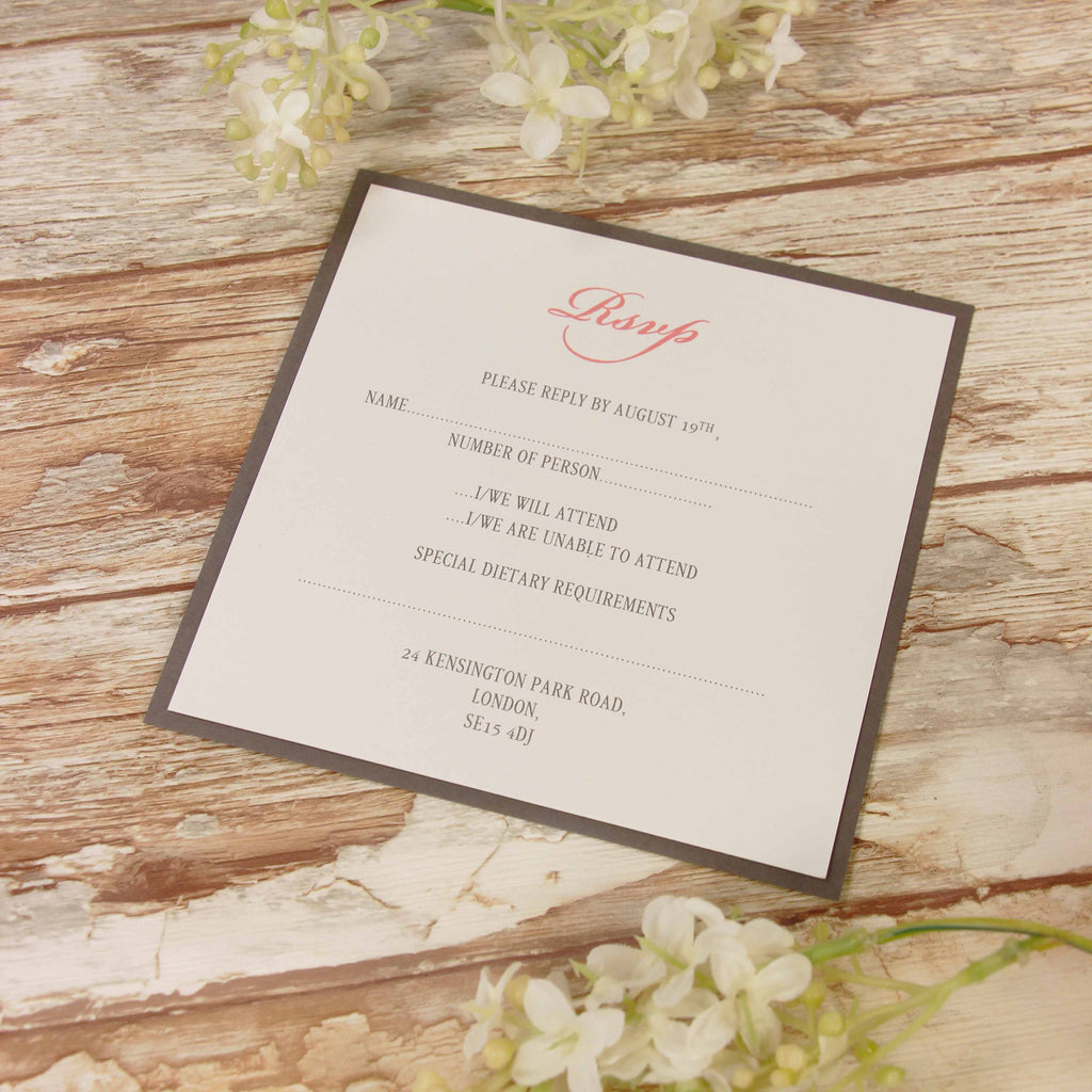 Vintage Lace Blush Pink Rustic Wedding Reply, Rsvp Card
