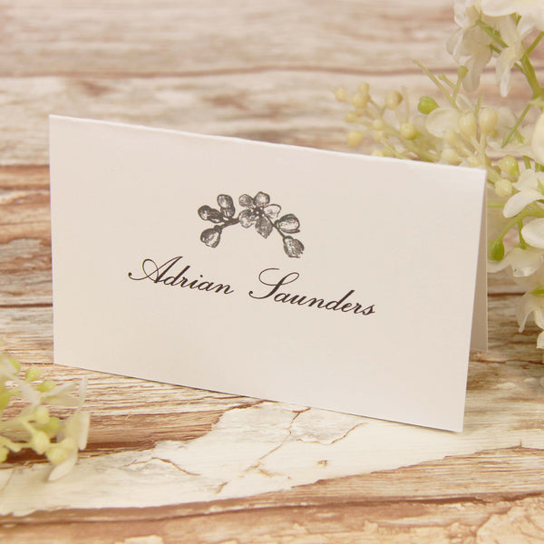 Black Lace Rustic Place Card