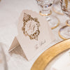 Deckled Edge Luxury Gold Foil Place card