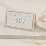 Classic Champagne and Rose Gold Confetti Place card