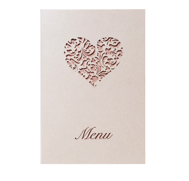A Lace Heart Order of Service / Menu