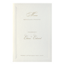 Simple Elegant Embossed Order of Service / Menu With Raised Ink