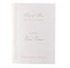 Simple Elegant Embossed Order of Service / Menu