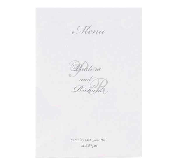 Silver Pocket Order of Service / Menu
