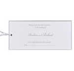 Silver Pocket Reply Card, Rsvp