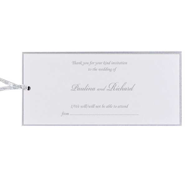 Silver Pocket Save the Date / Thank You / Reply Card